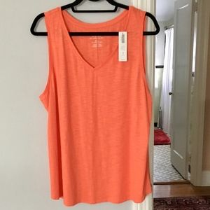 Chicos V - Neck Cotton Tank NWT